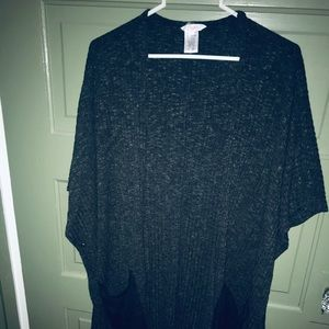 Open front sweater gray candies OS